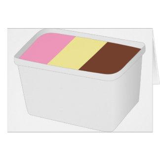 Neapolitan Ice Cream Card
