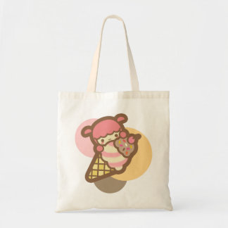 Neapolitan ice cream cone cherry cute kawaii pet tote bag
