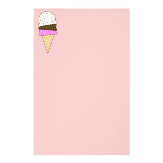Neapolitan Ice Cream Cone Stationery