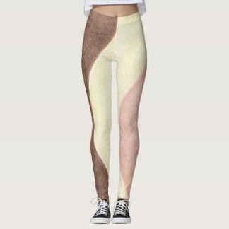 Neapolitan ice cream leggings