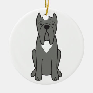Neapolitan Mastiff Dog Cartoon Ceramic Ornament