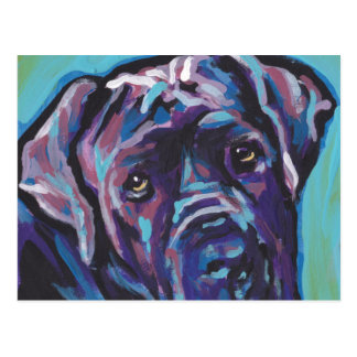 neapolitan Mastiff Dog Pop Art Postcard