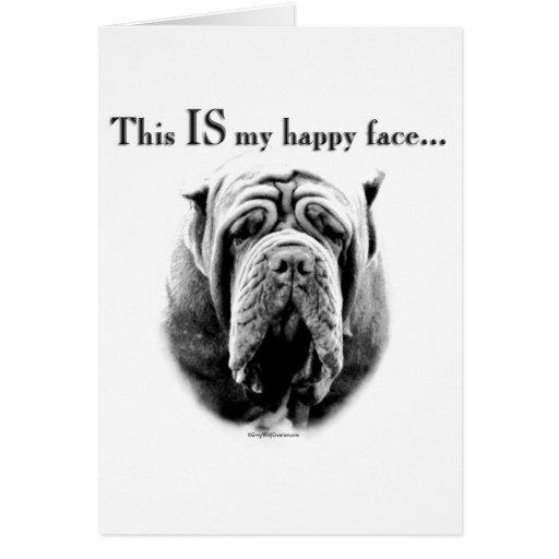 Neapolitan Mastiff Happy Face Card