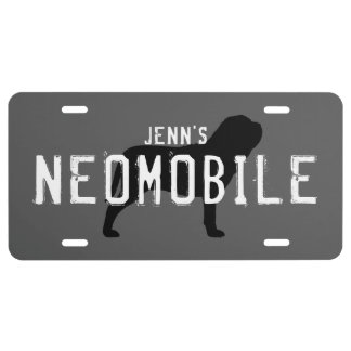Neapolitan Mastiff Silhouette NEOMOBILE Custom License Plate
