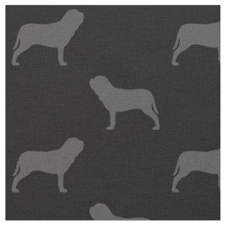Neapolitan Mastiff Silhouettes Pattern Fabric