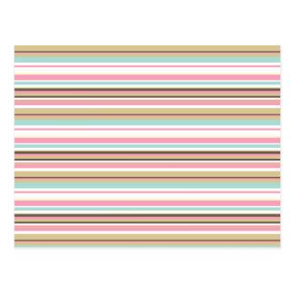 Neapolitan Striped Postcard