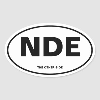 Near-Death Experience Oval Sticker