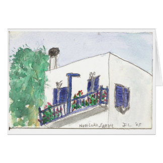 """""""Near Laki Square"""" watercolor art card"""