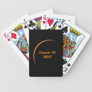 Near Maximum August 21, 2017 Partial Solar Eclipse Bicycle Playing Cards