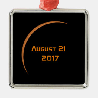 Near Maximum August 21, 2017 Partial Solar Eclipse Metal Ornament