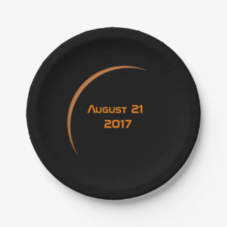 Near Maximum August 21, 2017 Partial Solar Eclipse Paper Plate