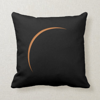 Near Maximum Partial Solar Eclipse Throw Pillow