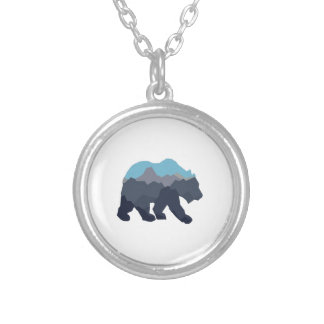 NEAR MOUNTAIN LAKES SILVER PLATED NECKLACE