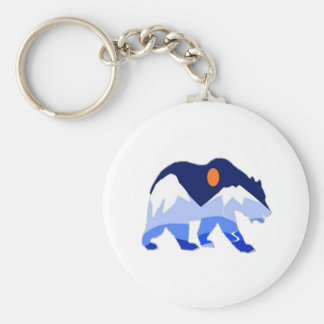 NEAR THE GLACIER BASIC ROUND BUTTON KEYCHAIN