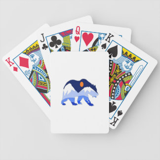 NEAR THE GLACIER BICYCLE PLAYING CARDS