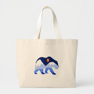 NEAR THE GLACIER LARGE TOTE BAG