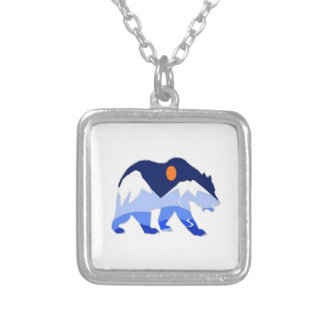 NEAR THE GLACIER SILVER PLATED NECKLACE