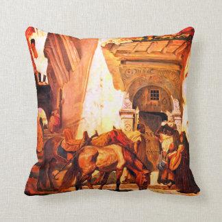 Near the Kasbah Throw Pillow