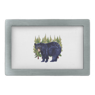 NEAR THE PINES RECTANGULAR BELT BUCKLE