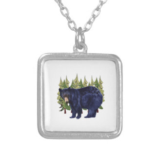 NEAR THE PINES SILVER PLATED NECKLACE