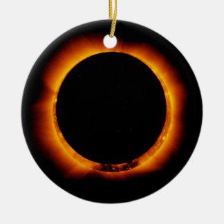 Near Total Solar Eclipse Ceramic Ornament