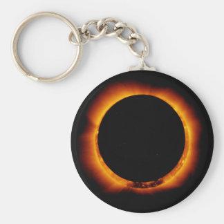 Near Total Solar Eclipse Keychain