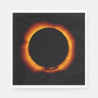 Near Total Solar Eclipse Paper Napkin