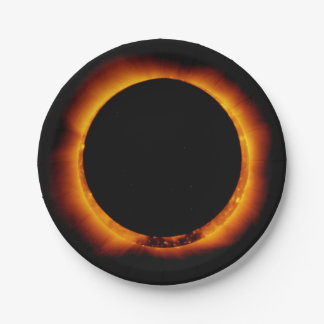 Near Total Solar Eclipse Paper Plate