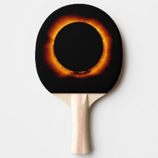Near Total Solar Eclipse Ping Pong Paddle