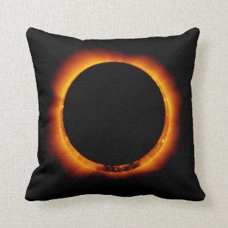 Near Total Solar Eclipse Throw Pillow