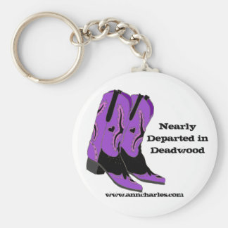 Nearly Departed in Deadwood Boots Keychain