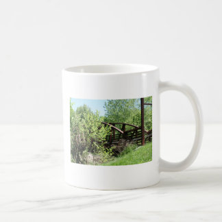 Neat bridge classic white coffee mug