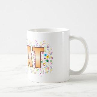 Neat Bubble Tag Basic White Mug