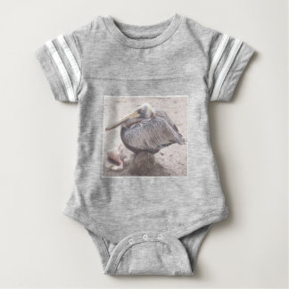 Neat Pelican with Shell Baby Bodysuit