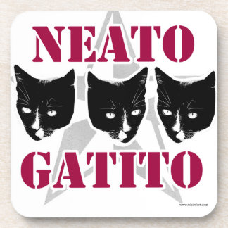 Neato Gatito Sassy Cat Slogan Coaster