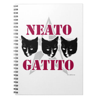 Neato Gatito Sassy Cat Slogan Notebook