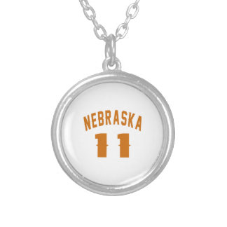 Nebraska 11 Birthday Designs Silver Plated Necklace