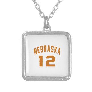 Nebraska 12 Birthday Designs Silver Plated Necklace