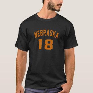Nebraska 18 Birthday Designs T-Shirt