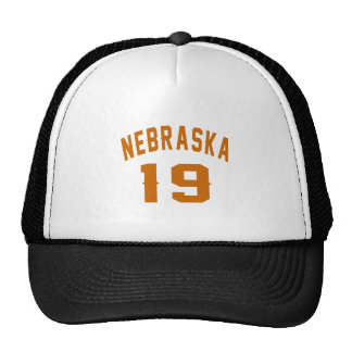 Nebraska 19 Birthday Designs Trucker Hat