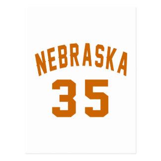 Nebraska 35 Birthday Designs Postcard