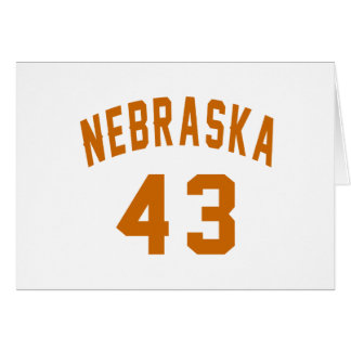 Nebraska 43 Birthday Designs Card