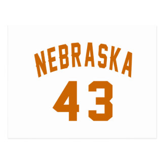 Nebraska 43 Birthday Designs Postcard
