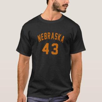 Nebraska 43 Birthday Designs T-Shirt