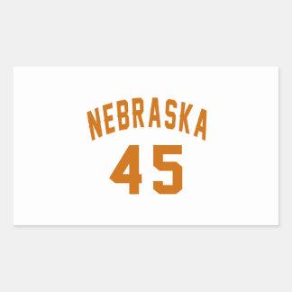 Nebraska 45 Birthday Designs