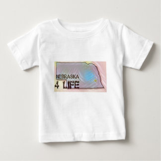 """Nebraska 4 Life"" State Map Pride Design Baby T-Shirt"