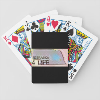"""Nebraska 4 Life"" State Map Pride Design Bicycle Playing Cards"