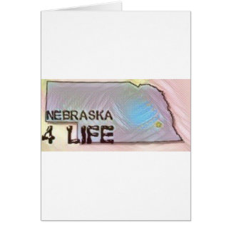 """Nebraska 4 Life"" State Map Pride Design Card"