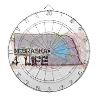 """""""Nebraska 4 Life"""" State Map Pride Design Dartboard"""