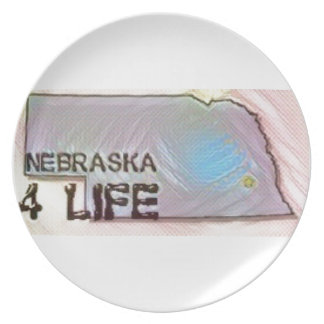"""Nebraska 4 Life"" State Map Pride Design Plate"